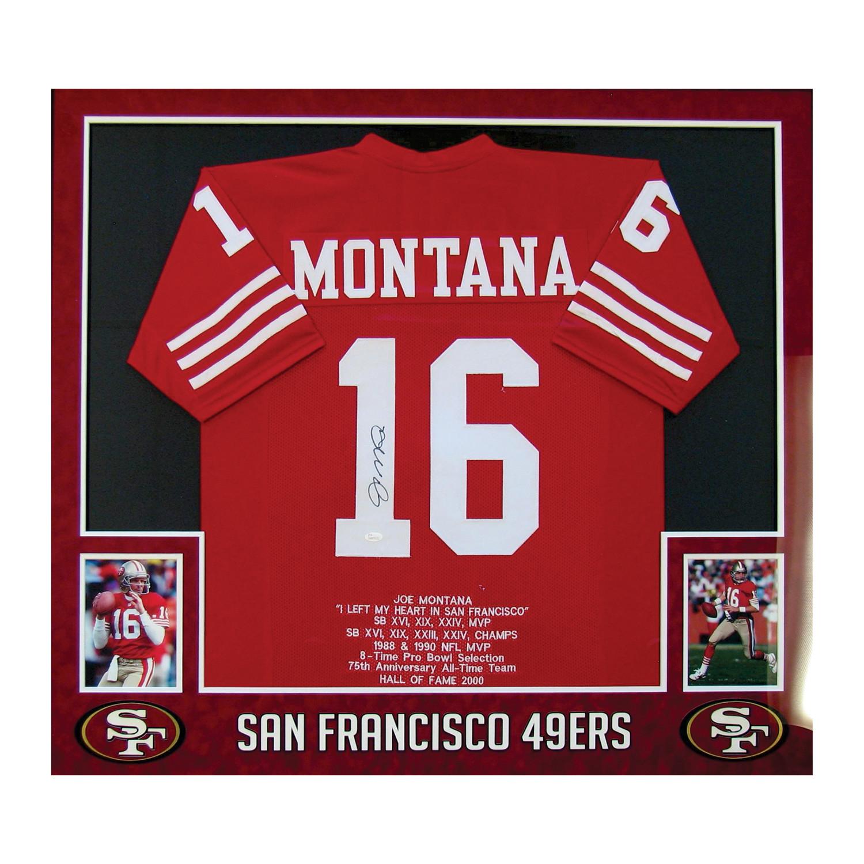 meet 6e963 06b83 Signed Jersey // Joe Montana