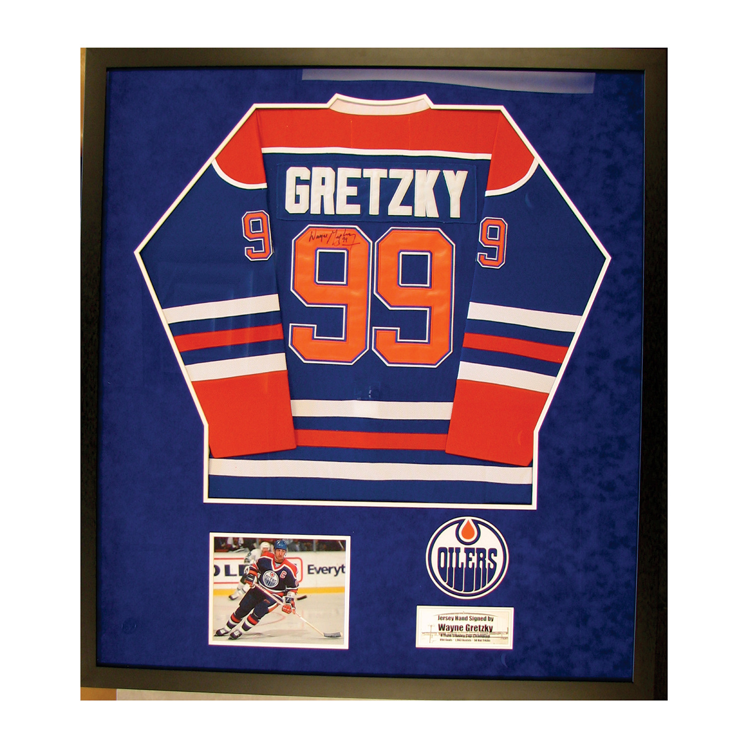 uk availability 3ddc4 e7a38 Signed Jersey // Wayne Gretzky - Piece Of The Past - Touch ...