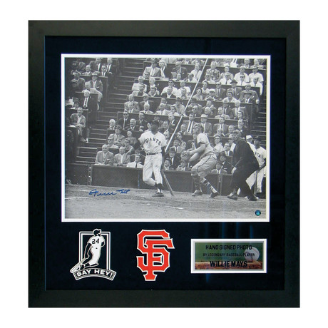 Signed + Framed Photograph // Willie Mays