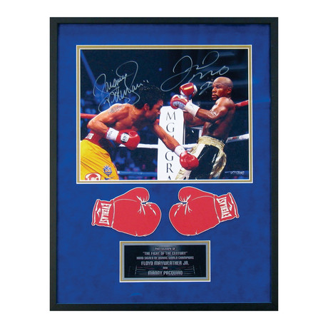 Signed + Framed Photograph // Floyd Mayweather + Manny Pacquiao
