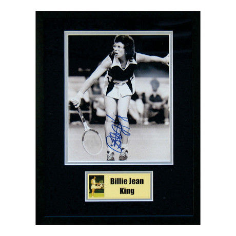 Signed + Framed Photo // Billie Jean King