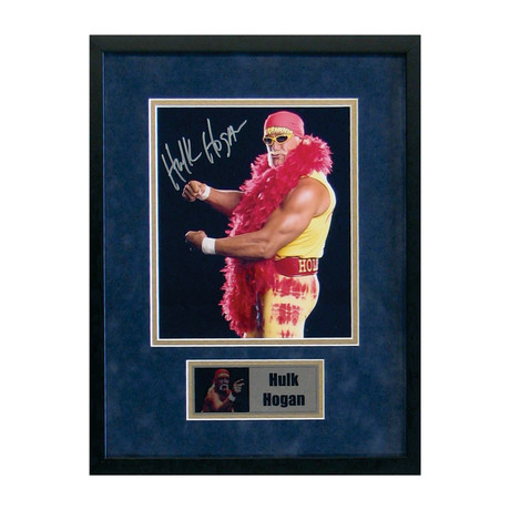 Signed + Framed Photo // Hulk Hogan