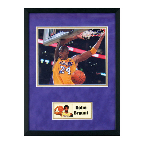 Signed + Framed Photo // Kobe Bryant