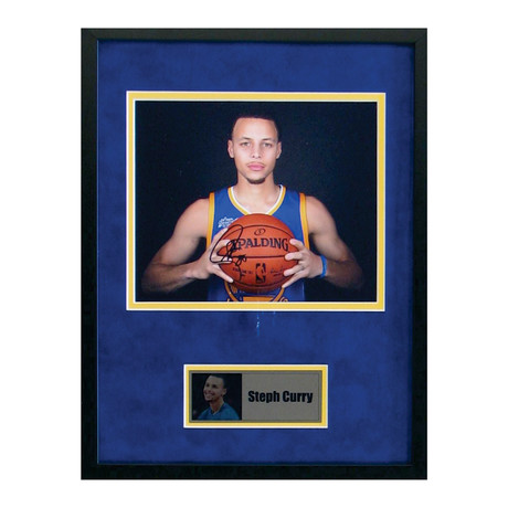 Signed + Framed Photo // Stephen Curry