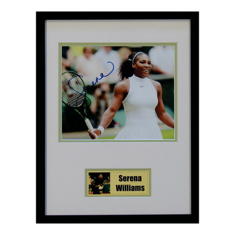 Signed + Framed Photo // Serena Williams