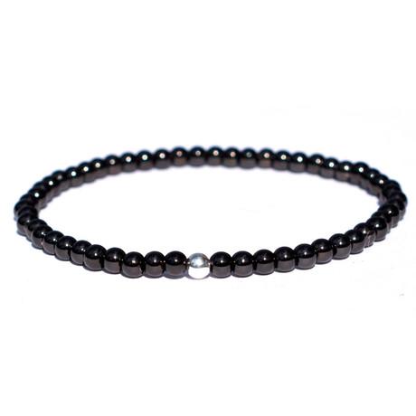 Minimal Bracelet // Silver + Black