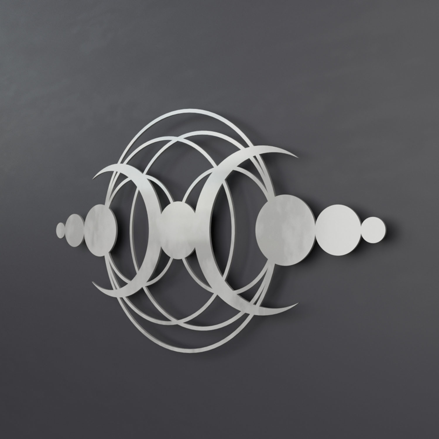Crop Circle Moon II 3D Metal Wall Art