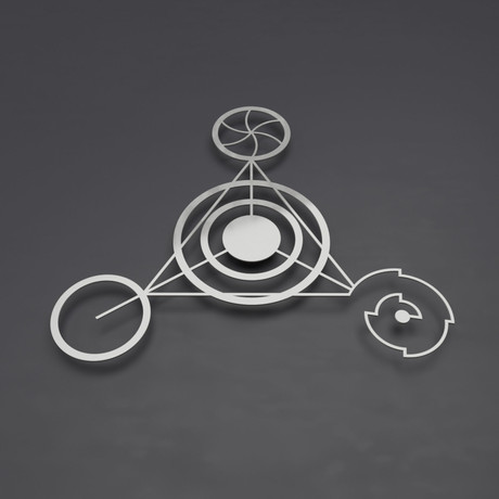 Crop Circle Barbury III 3D Metal Wall Art