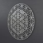 Repeating Flower of Life 3D Metal Wall Art