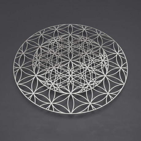 Repeating Flower of Life 3D Metal Wall Art