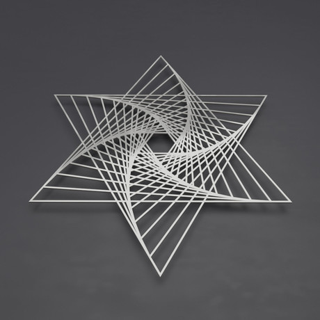 Merkaba Vortex 3D Metal Wall Art