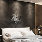Merkaba Vortex 3D Metal Wall Art