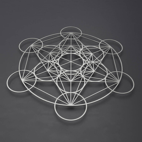 "Encircled Metatron's Cube 3D Metal Wall Art (21.5""L x 24""W x 1.5""H)"