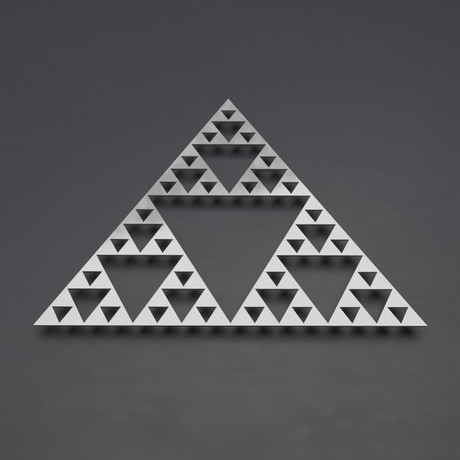 Sierpinski Triangle I 3D Metal Wall Art