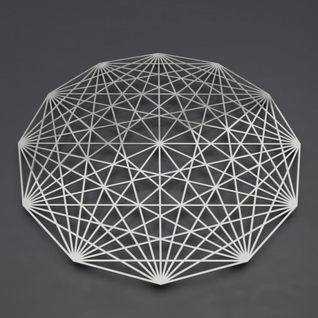 Tesseract 3D Metal Wall Art