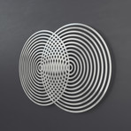 Vesica Piscis Abstract 3D Metal Wall Art