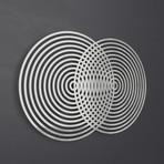 Vesica Piscis Abstract 3D Metal Wall Art