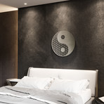 Yin Yang II Sacred Geometry 3D Metal Wall Art
