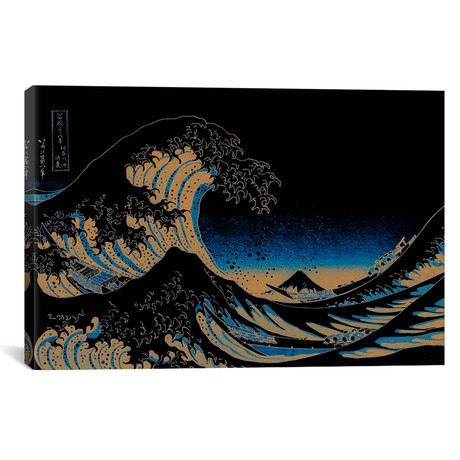"Great Wave at Night // 5by5collective (18""W x 26""H x 0.75""D)"