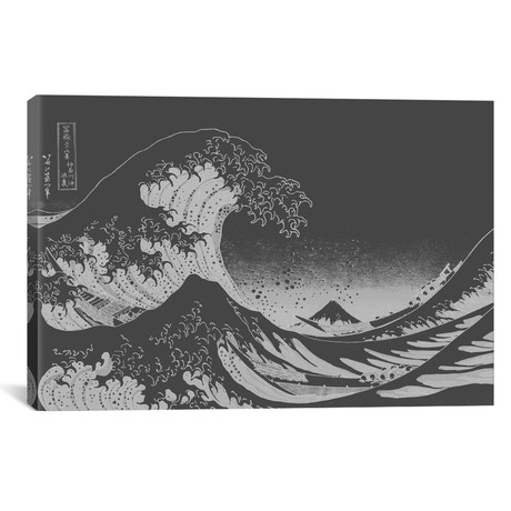 "Sketch of Great Wave // 5by5collective (18""W x 26""H x 0.75""D)"
