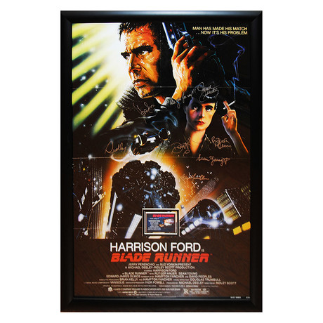 Signed Movie Poster // Blade Runner