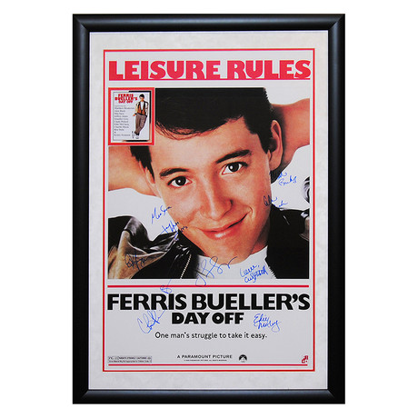 Framed + Signed Poster // Ferris Bueller's Day Off