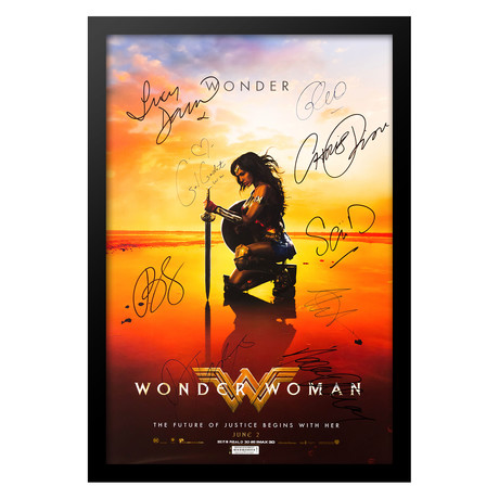 Signed + Framed Poster // Wonder Woman