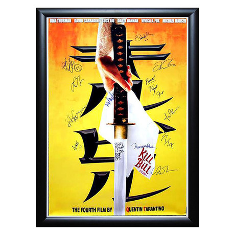Signed + Framed Movie Poster // Kill Bill