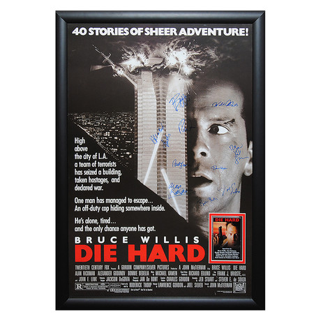 Signed + Framed Movie Poster // Diehard