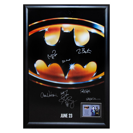 Signed + Framed Poster // Batman