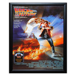Signed + Framed Poster // Back to the Future