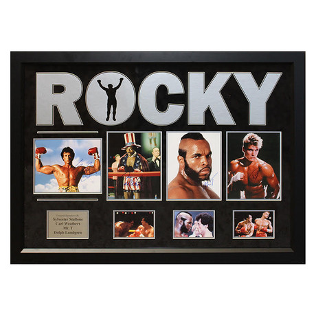 Signed + Framed Collage // Rocky