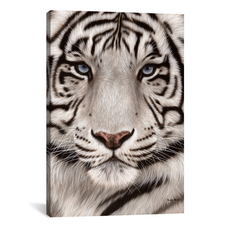 White Tiger Face // Rachel Stribbling