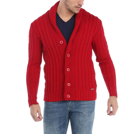 Alan Cardigan // Red (XS)