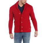 Alan Cardigan // Red (L)