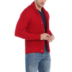 Alan Cardigan // Red (S)