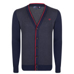 Alexander Cardigan // Navy + Gray (XL)