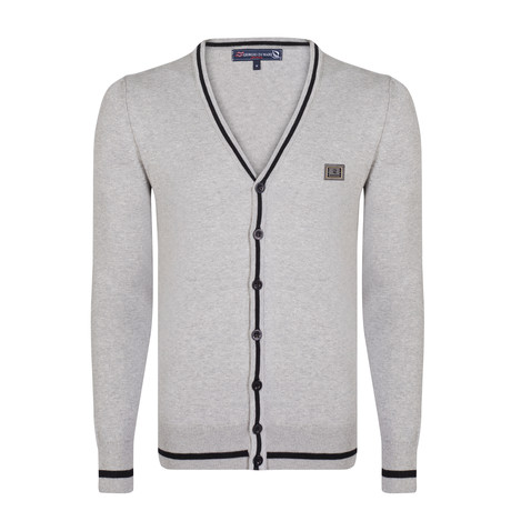 Gerardo Cardigan // Gray + Black (XS)