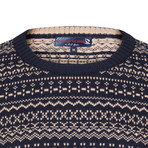 Maximo Pullover // Navy + Beige (XS)