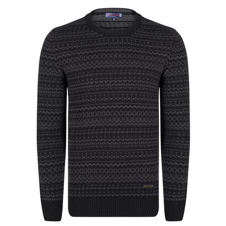 Bryson Pullover // Black + Gray (XS)