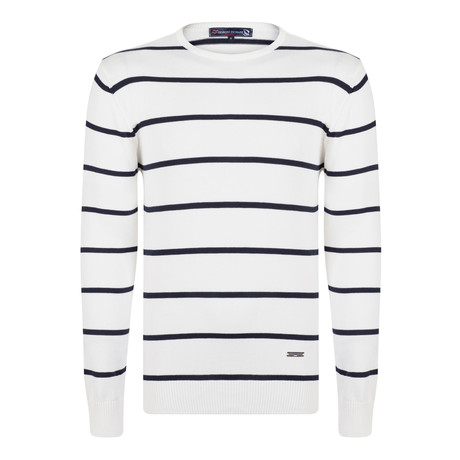 Christopher Pullover // Ecru + Navy (XS)