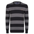 Frederick Pullover // Black + Gray (XL)