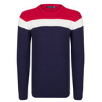 Randy Pullover // Navy + Ecru + Bordeaux (XL)