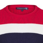 Randy Pullover // Navy + Ecru + Bordeaux (M)