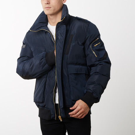 Carbon Down Bomber // Navy (XS)