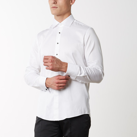 Removable Buttoned Tuxedo Shirt // White (S)