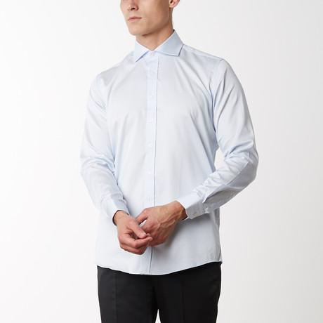 Spread Collar Fitted Dress Shirt // Light Blue (S)