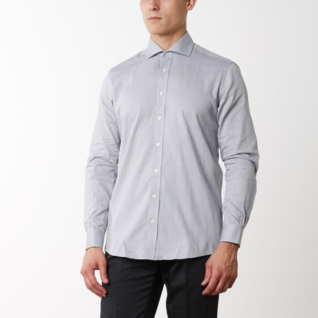 Oxford Spread Collar Dress Shirt // Grey (S)