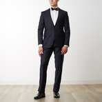 Peak Lapel Slim T Wool Suit // Navy (US: 36R)
