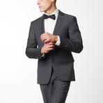 Checked Slim Fit Merino Wool Suit // Black (US: 44R)